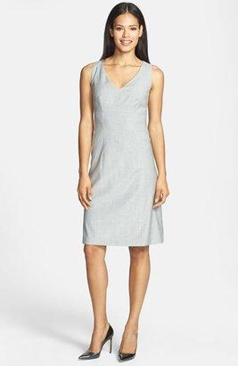 HUGO BOSS BOSS 'Desula' Stretch Wool Blend Sheath Dress