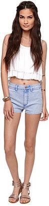 Bullhead Denim Co Slit Hot Shorts