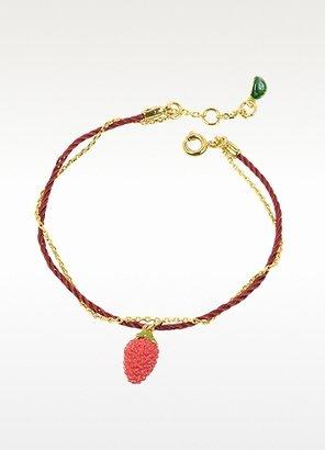 Les Nereides Fruits d'Ete Double Strawberry Charm Bracelet