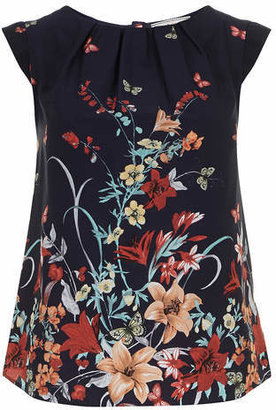 Dorothy Perkins Billie & Blossom Navy butterfly shell top