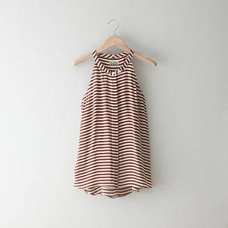 Closed Striped Silk Halter Top