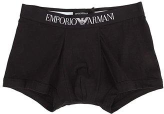 Emporio Armani Stretch Cotton Boxer Brief (Black) Men's Underwear