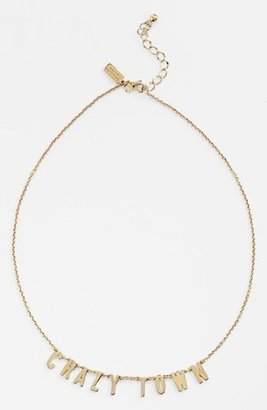 """Kate Spade Say Yes"""" Crazy Town Necklace, 16"""""""