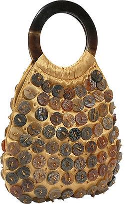 Global Elements Horn Buttons Evening Bag