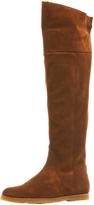 Topshop DUFFY Suede Over Knee Boot