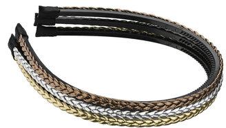 Elle Braided Metallic Headband