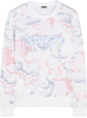 Kenzo Cloud-print cotton-jersey sweatshirt