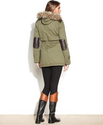 Style&Co. Hooded Faux-Fur-Trim Parka