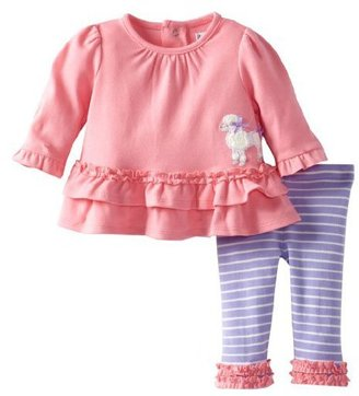 Hartstrings 2-pc L/S Poodle Tunic and Leggings - Morning Glory-0-3 Months