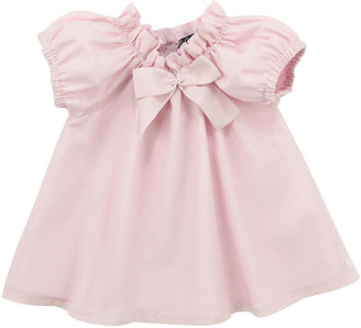 Lili Gaufrette Lunette Cotton/Silk Dress with Bloomer, Light Pink, 3-18 Months