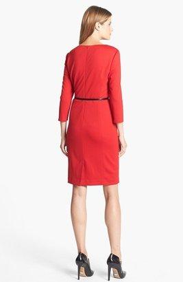 Jones New York 'Scarlet' Ponte Sheath Dress