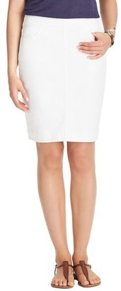 LOFT Petite Denim Pencil Skirt in White