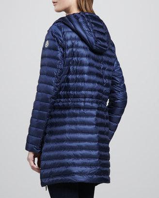 Moncler Aure Tie-Waist Puffer Coat