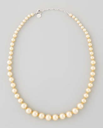 Majorica Graduated Simulated Pearl Necklace, Champagne