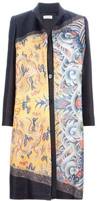 Dries Van Noten chinese print blouse dress