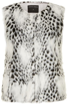 Dorothy Perkins Black and white fur gilet
