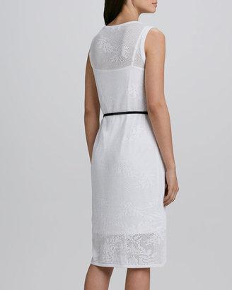 Carmen Marc Valvo Carmen by Belted Lace Dress