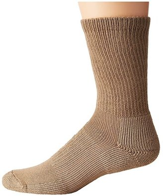 Thorlos Walking Crew Socks (Dark Khaki) Crew Cut Socks Shoes
