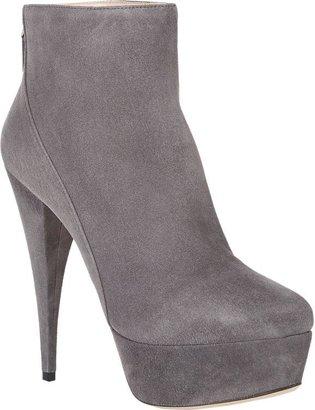 Miu Miu Platform Ankle Boots-Grey