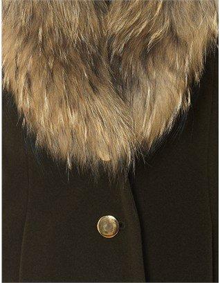 Nonoo Khaki Fur Collar Jacket