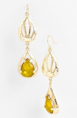 Nordstrom 'Picasso' Drop Earrings Chalk White/ Gold