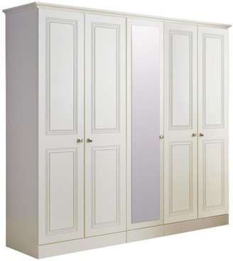 Consort Furniture Limited Kendal Ready Assembled 5-door Mirrored Wardrobe