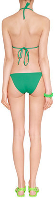 Marc by Marc Jacobs Neon Green Studded Rubber Thongs