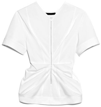 Alexander Wang Preorder Stretch Cotton Poplin Vacuum Pressed Top With Pinched Front
