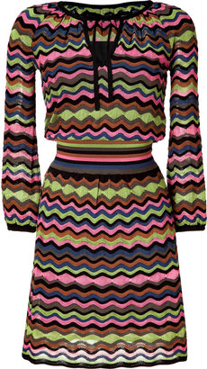 M Missoni Pink/May Green Multicolor Knitted Dress