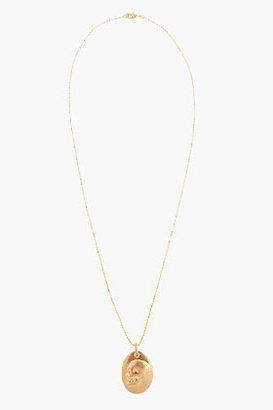 Alexander McQueen Gold skull pendant necklace