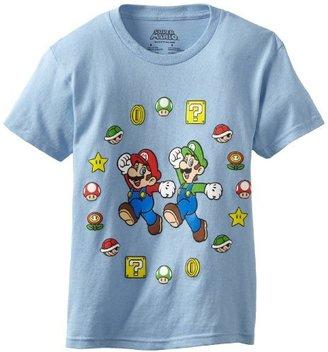 Nintendo Boys 8-20 Mario and Luigi Short Sleeve Tee