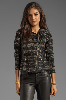 Rebecca Taylor Boucle and Leather Blazer