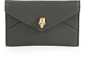 Alexander McQueen Skull-Detailed Leather Envelope Card Case