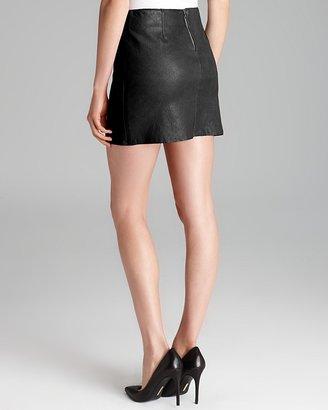 Alice + Olivia Mini Skirt - Brigitta Leather