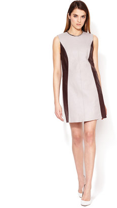 3.1 Phillip Lim Two-Tone Stitched Leather Dress