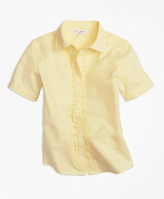 Brooks Brothers Girls Non-Iron Short-Sleeve Oxford