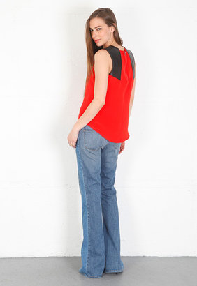 Parker Libby Top in Tomato