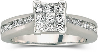JCPenney FINE JEWELRY 1 CT. T.W. Diamond Engagement Ring 10K White Gold