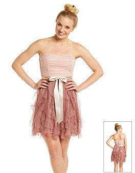 Teeze Me Juniors' Strapless Ruffle Party Dress