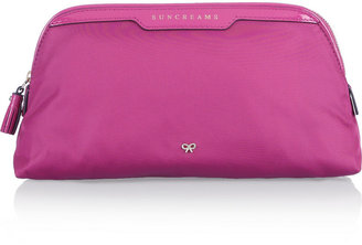 Anya Hindmarch Suncreams patent leather-trimmed cosmetics case