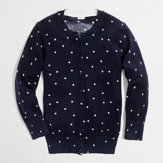 J.Crew Factory Factory Clare cardigan in scattered dot