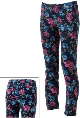 So ® floral skinny jeans - juniors
