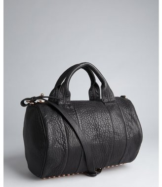 Alexander Wang black washed leather 'Rocco' studded convertible satchel