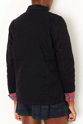 Topshop Check Lined Harrington Jacket