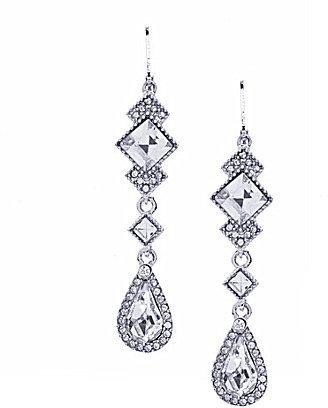 Cezanne Crystal Mix Shapes Drop Earrings