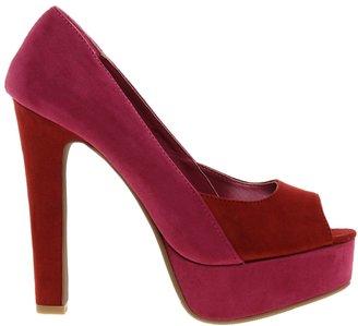 Sugarfree Shoes Sugarfree Evelyn Fuchsia Suedette Heeled Shoe