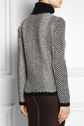 Roberto Cavalli Embellished wool turtleneck sweater