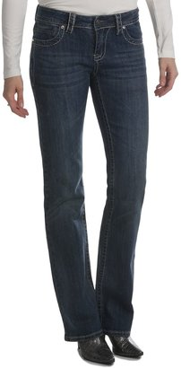 Zenim Bootcut Jeans - Mid Low Fit, Stretch Cotton (For Women)