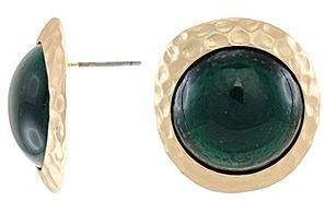 Kenneth Jay Lane FINE JEWELRY KJL by Simulated Emerald Button Earrings