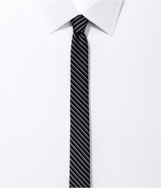 Express Super Skinny Silk Tie - Stripe